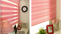 Wholesale Modern Translucent Roller Zebra Blinds in Pink Curtains for Living Room Colors are Available