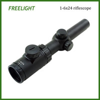 Wholesale 1 x24 lockable turret Riflescope outdoor sports hunting telescope sight high quality outdoor hunting scope