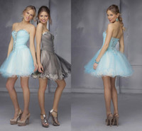 Reference Images Organza Sweetheart New 2014 Classic Designer Corset Crystals Homecoming Dresses A-line Sweetheart Short Prom Party Dress Beaded Lace-up Girls Cocktail Gowns