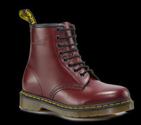 Wholesale Authentic Dr Martins CHERRY RED SMOOTH Women s Genuine Leather Boots Shoes Ankle Marten Boots Shoes R11822600