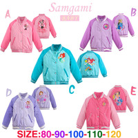 wholesale sports jackets - 5 colors Girl Elsa Anna Sofia Princess sport Baseball Outerwear Coats autumn children s Cartoon jackets