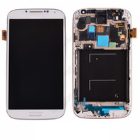 Wholesale 5 Touch LCD Screen Digitizer with frame Replacement For Samsung Galaxy S4 i9500 i9505 i337 by DHL EMS