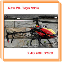 WL v913 Electric Hot Sale Wltoys 2.4Ghz 4CH V913 Big Size Single Blade Screw Remote Control RC Helicopter Brushless Motor Gyro Original Packing Toys Gifts