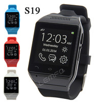 Cheap S19 Smart Watch Phone 1.54 inch Touch Screen Phones Sync SIM Support Camera GSM FM TF Card Slot for Samsung Sony HTC Android Smartphone