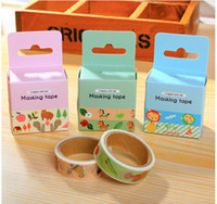 Wholesale New fashion washi masking cartoon DIY tape cute adhesive tape DIY sticker label school supplies