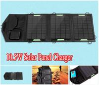 оптовых солнечные панели контроллера зарядное устройство-Горячая продажа 9V 5V 10.5W портативный складной солнечный USB панель зарядное устройство / 5521 Двойной выход Контроллер панели солнечных батарей сумка для мобильного телефона ноутбук