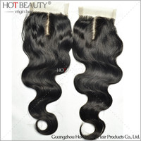 Brazilian Hair virgin indian hair remy hair - Body wave quot quot Virgin Remy Brazilian Indian Peruvian Malaysian Human Hair Closure