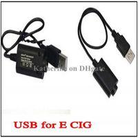 Wholesale eGo USB Charger for Electronic Cigarette E cigarette E Cig for eGo t k q vv vision spinner Battery Great Quality instock DHL