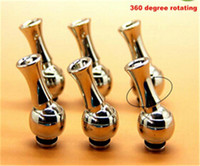 Wholesale 360 degree rotating stainless Rotatable Drip Tips Mouthpiece Stainless Steel drip tips for DCT EE2 vivi nova iClear Atomizer