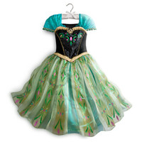 TuTu Summer Ball Gown Disguise Girl's Frozen Anna Coronation Gown Deluxe Girls Costume Princess Snow Queen Elsa Fancy Dress Cosplay Costume