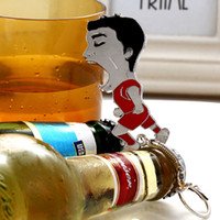 Wholesale DHL In Stock World Cup Opener Suarez creative gifts God Su Su teeth Keychain Bottle Opener Bag