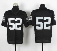 Football Men Short 2014 New Draft #52 Khalil Mack Black Elite Football Jerseys 2014-15 Season American Football Uniform Authentic On Field Jersey Football Wear