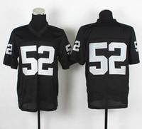 Wholesale 2014 New Draft Khalil Mack Black Elite Football Jerseys Season American Football Uniform Authentic On Field Jersey Football Wear
