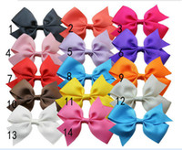 Wholesale 2014 Children Hair Accessories Barrettes Baby Girls Big Ribbon Bows With Clips Kids Flower Hairpins Boutique Koearn Style M0303