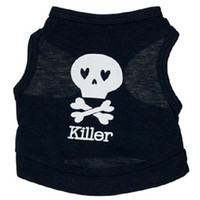 Wholesale New arrived White skeleton printing Pet Puppy Dog Clothes Dog Apparel clothing for dogs