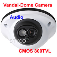 Wholesale CMOS TVL PC1099 Vandal proof Dome Camera with Audio microphone and night Vision ditance up to meters