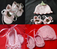 Unisex Summer Fur 6%0ff.Girls dress, (elf hat + shoes) beautiful crochet patterns of neonatal reborn dolls PDF!NEW ARRIVAL,infant,HIGH Quality,BABY shoes.2set