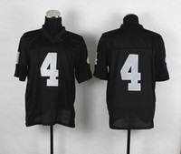 Wholesale 2014 New Draft Derek Carr Jerseys Mens Black Elite Jersey Season American Football Uniforms Top Quality Embroidered Sports Shirts