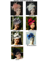 Headbands fascinator hat - NEW COLOR ARRIVAL fascinator sinamay fascinator sinamay hat with feathers and veiling colors