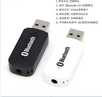 Wholesale USB Bluetooth Stereo Audio Music Receiver Adapter For IPhone Ipad Ipod Andriod PC Speaker Free Shiping