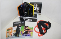Cheap Focus T25 DVD Workout Set Shaun T's Crazy Body Exercise Fitness Video High Definition With Resistance Band Potent Slimming Training Set