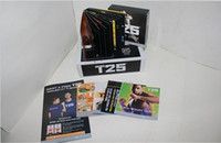Cheap Professional Body Building Shaun T's Workout Set T25 10 DVDs Focus MIB With Band Slimming Fitness Teaching Vifeo Home Body Exercise DVD