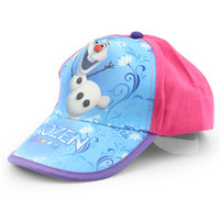 cotton baseball toys - Frozen Olaf Baseball Cap Blue Children Sun Hat Adjustable Hip Hop Cap Hats