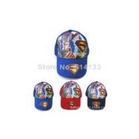 Boy Summer Ball Cap 5pcs Free Shipping 2014 New Arrival Superman Cartoon Strapback hat Baseball cap Snapback Basketball hat adjustable hat