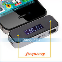 Wholesale DHL shipping mm Car Wireless FM Transmitter For iPhone S C S iPod Samsung Galaxy S4 MP3 TK1417 iPod Nokia
