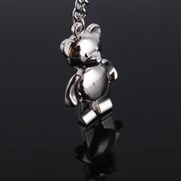 Wholesale Hollowed Key Rings Lover Bear Metal key Chain Key Ring Promotonal Products Car key ring pc