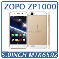 Octa Core Android Lenovo Original ZOPO ZP1000 MTK6592 Octa Core Mobile Phone 1GB RAM 16GB ROM 5.0 Inch HD IPS Android Cell Unlocked Smartphone 14.0MP GPS