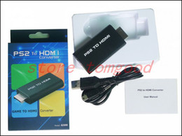 Wholesale For PS2 to HDMI converter scaler with mm audio jacket up to p suported in retail package