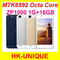 Octa Core Android Lenovo Original unlocked ZOPO ZP1000 cell phones 5.0 inch touch screen MTK6592 Octa Core 1G RAM 16G ROM 14.0MP camera Free Shipping