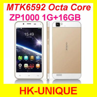 Octa Core Android Lenovo Original unlocked ZOPO ZP1000 cell phones Octa Core MTK6592 5.0 inch Touch Screen 14.0MP camera GPS WiFi Free Shipping
