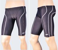 Men Bikinis Geometric shark skin fabric NSA swimwear professional men's long racing swimming swim trunks Jammers shorts classic men swimwear 312