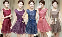 Summer New Elegant Plus Size Women Clothing Vintage Crochet Lace Dress Sexy Mini Formal Cocktail Party Dresses