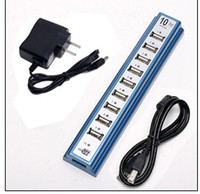 Wholesale USB Ports Hub Power Adaptor PC Notebook EU Plug