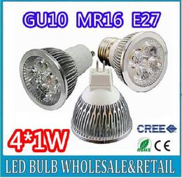 Haute puissance CREE 4W GU10 4x1W Dimmable / MR16 / E27 / E14 / GU5.3 Led Lampe Spotlight Ampoule LED Livraison gratuite à partir de dimmable e27 conduit 4x1w fabricateur