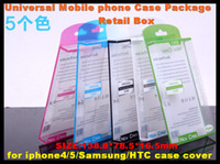 Wholesale Universal Mobile Phone Case Package PVC Transparent Clear Plastic Retail Packaging Box for iphone inch Samsung HTC Cell Phone
