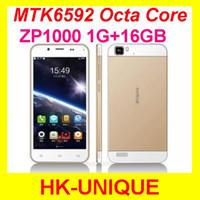 Octa Core Android Lenovo Original unlocked ZOPO ZP1000 cell phones Octa Core MTK6592 5.0 inch Touch Screen 14.0MP camera GPS WiFi Free Shipping