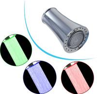 Wholesale e pak D003 No battery Automatic Temperature Sensor Color Glow Shower LED Light Water Faucet Tap Dropshipping