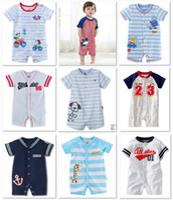 Unisex baby boy shortalls - First Movements Baby Short Rompers Boys Shortalls Cotton