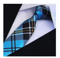 Neck Tie men's ties - NEW Men s necktie skinny ties dot Print Slim Tie plaid Polyester pattern fashion neck ties many designs for choose CM WH169C