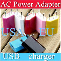 For LG For US  100XX AC Power Adapter US Plug USB Wall Travel Charger US EU Adapter for iphone 4 5 5S for Samsung Galaxy Cellphones Multi-color A