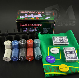 Wholesale NEW Texas Holdem Poker Casino Gambling Game chips Bargaining chip Bar Party Games
