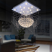 12v LED Artistic Ceilings 80*80*100 cm Modern crystal chandelier lamp living room lamp light lobby chandelier stylish modern square ceiling chandelier sh