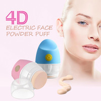 Zhimei New New ABS Cosmetic Puff Electric Powder Cosmetic Puff 4D BB Cream Tilting Vibrating Foundation Applicator Artist Auto Pat For Lovely Girl Free Shipping