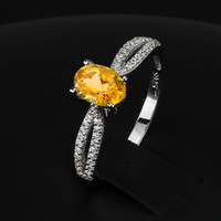 Cheap Fashion 2014 Natural Citrine Ring for Lady #RI101281 925 Sterling Silver Jewelry Women Wedding Rings