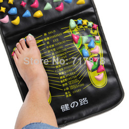 Wholesale 5 Chinese Walk Stone Pain Relieve Foot Pad Leg Massager Acupoint Mat Acupressure