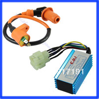 100 Meters D3276 Gy6 50~150 cc ATVs, scooters, moped. Free Shipping Performance 6 pin Racing CDI Box +Ignition Coil For GY6 Scooter Moped 50CC 150CC